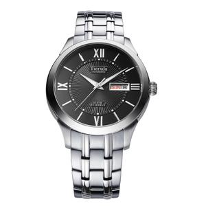 帝达时(Tierxda)手表全自动机械表 男表防水蓝宝石玻璃双日历时商务男士手表9014G