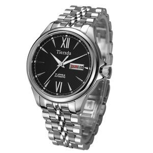 帝达时(Tierxda)手表全自动机械表蓝宝石玻璃商务男表防水双日历休闲男士6081G-1