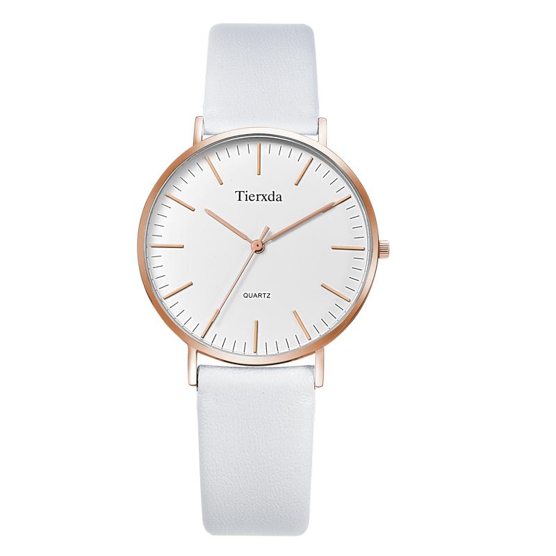 帝达时(Tierxda)手表女石英表 蓝宝石玻璃时尚女士手表 女表皮带6047L