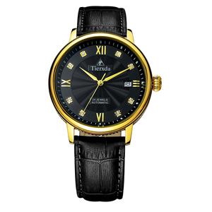 帝达时(Tierxda)手表全自动机械表名仕系列男士手表 日历商务休闲男表6046G