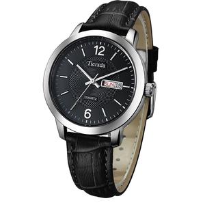 帝达时(Tierxda)手表石英表 简约皮带男士手表 商务休闲男表6084M
