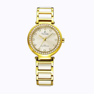 帝达时(Tierxda)手表女石英表 韩版时尚陶瓷女表 简约女士手表6069L