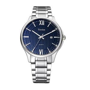 帝达时(Tierxda)手表石英表 名仕系列时尚钢带男士手表 防水日历商务休闲男表6092G