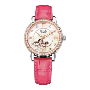 帝达时(Tierxda)手表全自动机械女表 镂空机械表时尚女式表皮带女士表6063L-4P