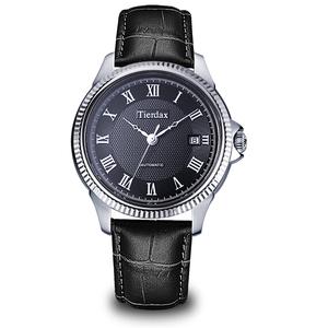 帝达时(Tierxda)手表全自动机械表名仕系列男士手表 日历商务休闲男表6096G