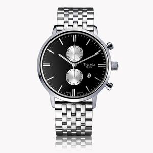帝达时(Tierxda)手表石英表 防水夜光男士手表多功能计时运动男表6064G钢带