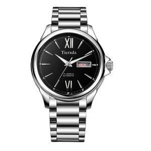帝达时(Tierxda)手表全自动机械表蓝宝石玻璃商务男表防水双日历休闲男士6081G-2