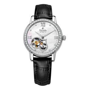 帝达时(Tierxda)手表全自动机械表 镂空女表时尚皮带女士手表6063L-2P