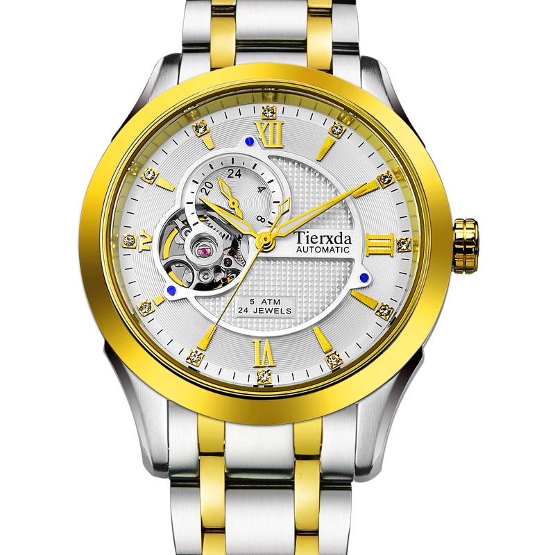 帝达时(Tierxda)手表全自动机械表名仕系列男表 镂空蓝宝石玻璃男士商务休闲9004G