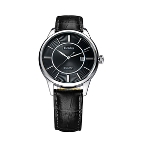 帝达时(Tierxda)手表石英表 简约皮带男士手表 商务休闲男表6082G-2P
