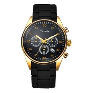 帝达时(Tierxda)手表石英表 防水夜光男士手表多功能计时运动男表6065G